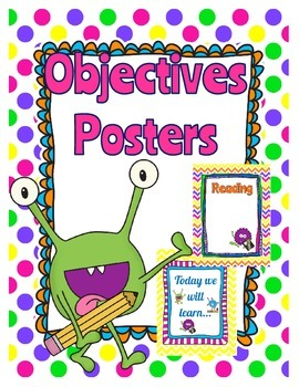 Learning Objective Printables - Monster Theme
