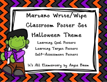 Learning Objective/Target Write and Wipe Posters Halloween Theme
