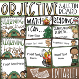 Learning Objectives Bulletin Board Display Posters Camping Camp Out Editable