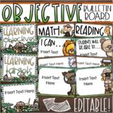 Learning Objectives Bulletin Board Display Posters Jungle Safari Editable