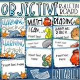 Learning Objectives Bulletin Board Display Posters Ocean Under the Sea Editable