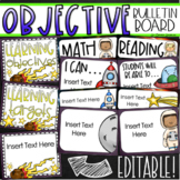 Learning Objectives Bulletin Board Display Posters Outer Space Editable