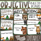 Learning Objectives Bulletin Board Display Posters Woodland Animals Editable