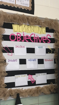 Learning Objectives Bulletin Board Letters