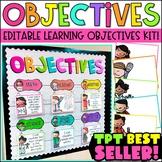 Learning Objectives | Bulletin Board | Objectives Board | Classroom Decor