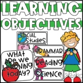 Learning Objectives Display