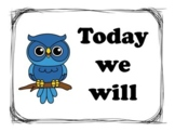 Learning Objectives Display Bulletin Board Owl Theme