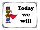 Learning Objectives Display Bulletin Board Super Hero Theme