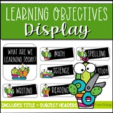 Learning Objectives Display- Cactus Theme Subject Headers