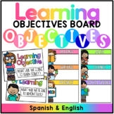 Learning Objectives Display - English & Spanish