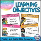 Learning Objectives Display | Learning Intentions and Succ