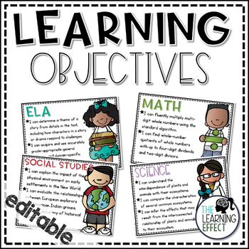 Learning Objectives Signs {Editable}