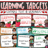 Learning Objectives Goals Targets Posters Signs Bulletin Board Display Editable