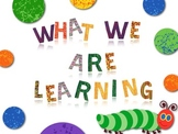 Learning Objectives Headers in Eric Carle Style and Fun Style