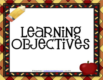 Learning Objectives Posters - Apple Theme