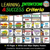 Learning Intentions and Success Criteria Display (Black and White Chevron)