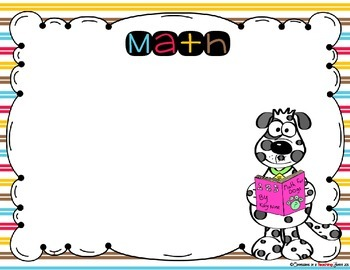 Learning Objectives Posters - DOG Theme