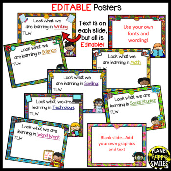 Learning Objectives Posters (EDITABLE) ~ Super Hero Theme