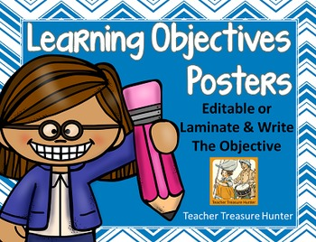 Learning Objectives Posters - Editable