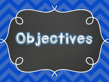 Learning Objectives Posters (Elementary)