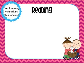 Learning Objectives Posters {chevron and polka dots sets}