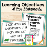 Learning Objectives/Targets Display, I Can Brag Tags, I Ca