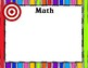 Learning Objectives/Targets Posters - Rainbow Brights Theme