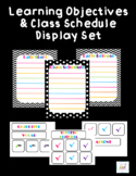 Learning Objectives and Classroom Schedule Display Set