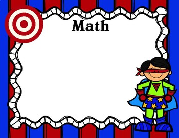 Learning Objectives and Targets Posters Super Hero Theme