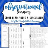 Learning: Observational Learning Video Doodle Notes & Close Read