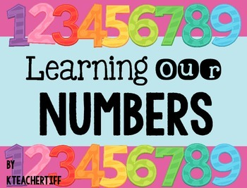 Learning Our Numbers: Anchor Chart Cards and Practice Sheets