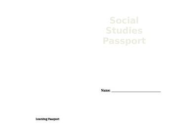 Learning Passport (editable)