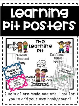 Learning Pit Posters By Cup Of Coffee Resources Tpt