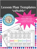 Weekly Lesson Plan Template with Embedded IEP Goals