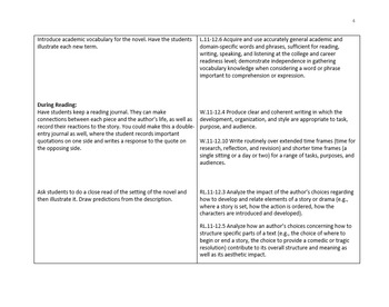 Learning Plan for ANY Text: Before, During, and After Reading Activities (CCSS)