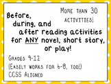 Learning Plan for ANY Text: Before, During, and After Read