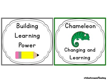 Learning Powers and Animals Posters