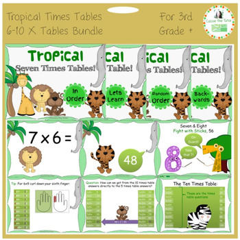 Power Point Pack BUNDLE: Learning & Practicing the 6-10 x Tables