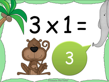 Times Tables Power Point Pack: Learning & Practicing the 1 x Table