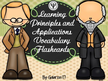 Learning Principles and Applications Vocabulary Flashcards