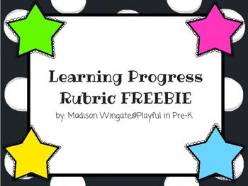 Learning Progress Rubric FREEBIE