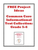 Learning Projects for CC Informational Text Collection: Grades 5-6