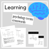 Learning Psychology Crossword Practice | Psychology Activities