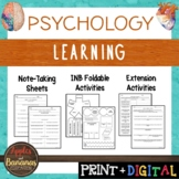 Learning - Psychology Interactive Note-taking Activities