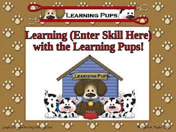Learning Pups PowerPoint Game Template