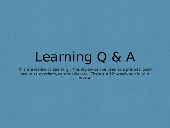 Learning Q & A