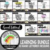 Learning Quotes SVG Design Bundle