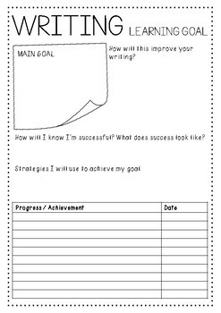 Learning Reflection Journal Notebook - Reflection and Learning Goal System.