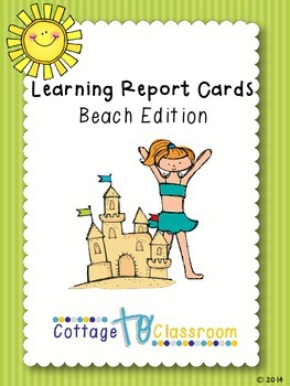 Learning Report Cards: Beach Edition