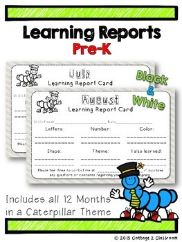 Learning Reports for Pre-K